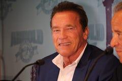 Arnold Schwarzenegger i Barcelona Arkivbilder
