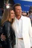 Arnold Schwarzenegger, Maria Shriver Royalty-vrije Stock Foto's