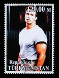 Arnold Schwarzenegger Postage Stamp imagens de stock royalty free