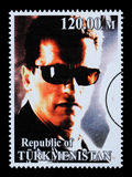 Arnold Schwarzenegger Postage Stamp photo stock