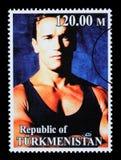 Arnold Schwarzenegger Postage Stamp Stockfoto