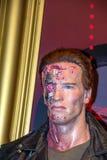 Arnold Schwarzenegger som terminatoren i vaxmuseet för madam Tussauds London royaltyfri bild