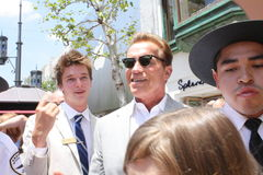 Arnold Schwarzenegger son Patrick Royalty Free Stock Photo