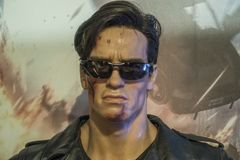 Arnold Schwarzenegger Wax Figure fotos de stock royalty free