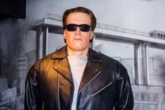 Arnold Schwarzenegger Wax Figure foto de archivo