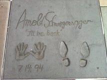 Arnold Schwazenegger Walk di fama Immagini Stock
