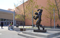 Arnold sculpture, Columbus. COLUMBUS, OH - JUNE 27: A sculpture of Arnold Schwarzenegger at the Columbus Convention Center is shown on August 7, 2017. Columbus Royalty Free Stock Image