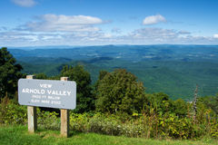 Arnold Valley from the  Blue Ridge Parkway Royalty Free Stock Photography