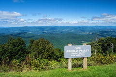Arnold Valley from the  Blue Ridge Parkway Royalty Free Stock Photos