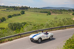 Arnolt Bristol Bolide (1954) runs in Mille Miglia 2014 Stock Images