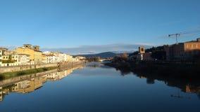 Arnorivier in Florence, het gebied van Toscanië - Italië Stock Fotografie