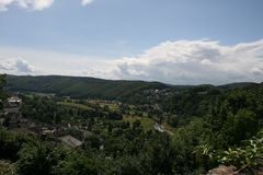Arnsberg landscape of the forest. View over the city of Arnsberg stock image