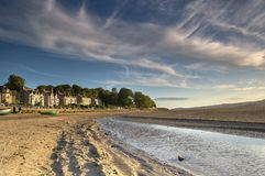 Arnside at dusk Royalty Free Stock Photography