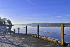 Arnside on a frosty Winter morning Stock Photo