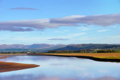 Arnside shore & Lake District Fells Royalty Free Stock Photography