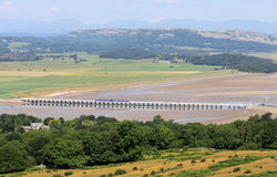 Arnside viaduct, Lake District from Arnside Knott Royalty Free Stock Image