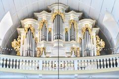 1702 1707年arnstadt bach教会德国内部johann找出市场器官被演奏的塞巴斯蒂安方形图林根州查看 库存图片