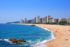 aro海滩brava肋前缘d platja西班牙 库存图片