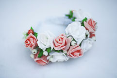 Aro das flores, grinalda com flores coloridas Fotos de Stock Royalty Free