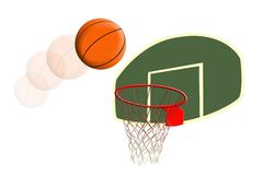 Aro de baloncesto stock de ilustración