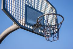 Aro de baloncesto de acero Foto de archivo libre de regalías