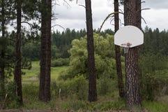 Aro de baloncesto al aire libre de la montaña Fotografía de archivo libre de regalías