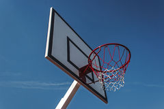 Aro de baloncesto del panel fotos de archivo
