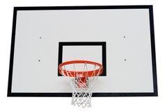Aro de baloncesto en blanco Fotos de archivo