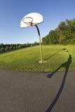 Aro de baloncesto Fisheye Fotografía de archivo libre de regalías