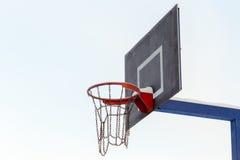 Aro de basquetebol gelada Imagens de Stock Royalty Free