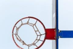 Aro de basquetebol gelada Imagens de Stock