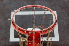 Aro de basquetebol gelada Imagem de Stock Royalty Free