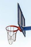 Aro de basquetebol gelada Fotografia de Stock Royalty Free