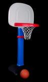 Aro de basquetebol plástica de Childrenâs com esfera Foto de Stock Royalty Free