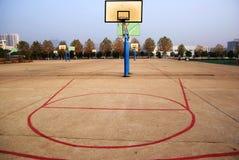 Aro de la bola de la cesta Fotografía de archivo libre de regalías