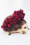 Aro de las flores, guirnalda con las flores coloreadas Flores hechas a mano Imagenes de archivo