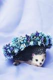 Aro de las flores, guirnalda con las flores coloreadas Flores hechas a mano Fotografía de archivo libre de regalías