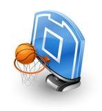 Aro e esfera de basquetebol Fotografia de Stock Royalty Free