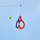 Aro Takraw, esfera de Takraw com a aro oficial Imagens de Stock Royalty Free