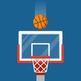 Aro y bola de baloncesto ilustración del vector