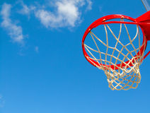 Aro y red de Basketbal foto de archivo libre de regalías