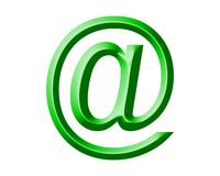 Arobase AT email symbol illustration Stock Images