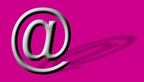 Arobase AT email symbol illustration Stock Photo