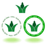 Aroe vera logo. A simple circular frame aloe vera Royalty Free Stock Photo