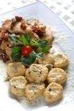 arom ιταλικό κρέας κοτόπουλ&om Στοκ Εικόνες