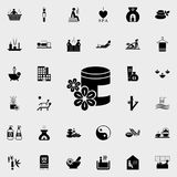arom av den olje- symbolen Detaljerad uppsättning av SPA symboler Högvärdigt kvalitets- tecken för grafisk design En av samlingss vektor illustrationer