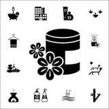 arom av den olje- symbolen Universell uppsättning för SPA symboler för rengöringsduk och mobil royaltyfri illustrationer