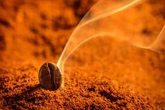 Arom av grillade kaffekorn royaltyfria foton