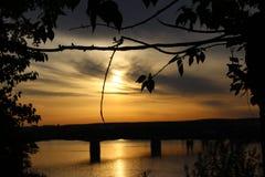 Arom av solnedgången Arkivfoto