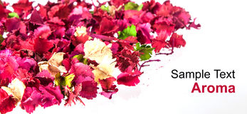 Aroma Background. Floral sachet, which aroma and fresh form as background Stock Photo